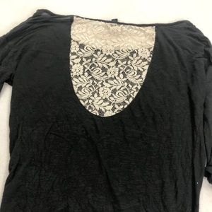 3/$25 American Eagle Green Top Lace Back Size S